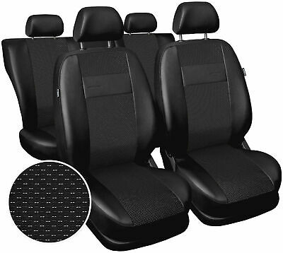 Seat covers fit Vauxhall Zafira full set polyester leatherette black