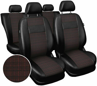Seat covers fit Vauxhall Zafira  polyester leatherette black / red