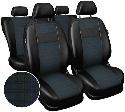 Seat covers fit Vauxhall Zafira  polyester leatherette black / blue