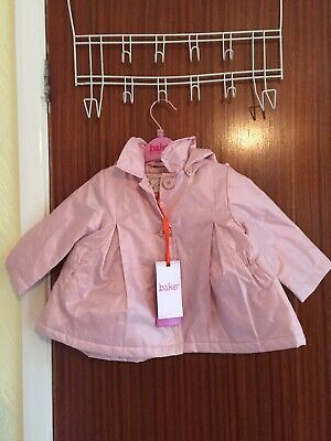 STUNNING BRAND NEW TAGGED TED BAKER GIRLS  WATERPROOF HOODED COAT IN AGED 6-9m