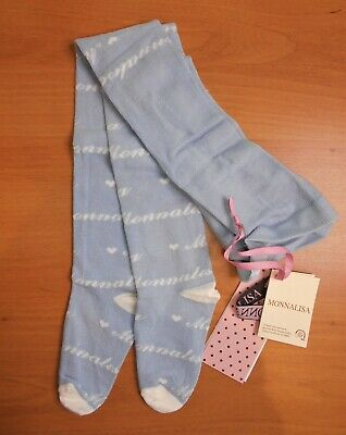 Monnalisa Girls Cotton Mix Tights Age 5 Years 110cm Blue BNWT    7/19