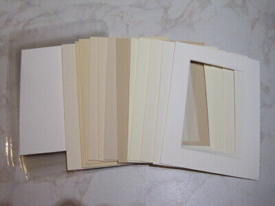 12 Mounts 8 x 6, Plus Backs & New Clear Bags  All Shades of Cream – Lot 12