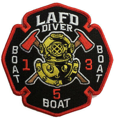 LAFD Diver Boat 1 Boat 3 Boat 5 New Jan. 2020(California) Fire Patch