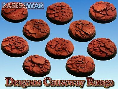 32mm Resin bases great for Warhammer 40k AOS necrons, Tau, Harlequins, etc