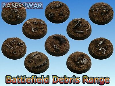 32mm Resin bases great for Warhammer 40k space marines, orks, eldar, chaos etc