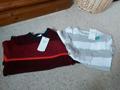 Bnwt Marks and Spencer Boys Jumper And T Shirt Bundle 10-11