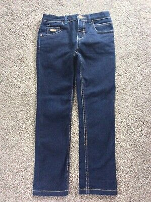 Boys Ted Baker Jeans Dark Blue Size Uk 7 Excellent Condition