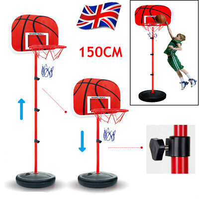 Portable Free Standing Basketball Hoop Net Backboard Stand Adjustable Back Board