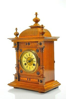 Antique German Junghans Spring Driven Mantel Clock Black Forest approx.1910