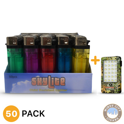 Skylite 50 Full Size MK Grip Disposable Cigarette Lighters, All Purpose