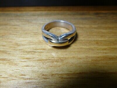 James Avery Retired Enduring Bond Ring 14K Gold & Sterling Silver - Size 7