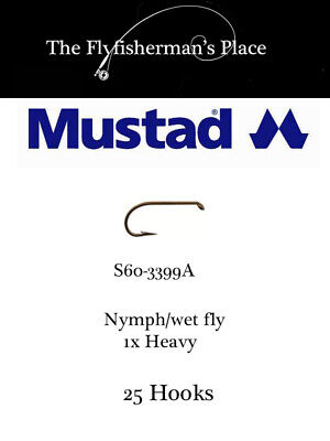 Signature Sproat Wet Fly Hook Mustad S60-3399A 50 pack