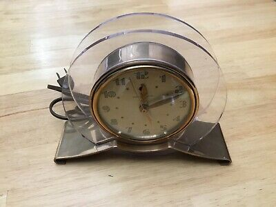 Vintage Art Deco Ge General Electric Model 3H160 Rapture Clock