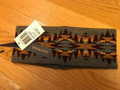 New W/tags Pendleton Unisex Wool Fleece Lined Headband Crescent Butte