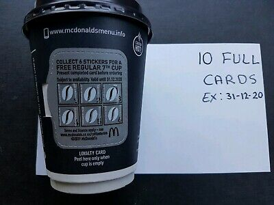 Mcdonalds 10 Full Hot Drink Vouchers Valid 31-12-2020