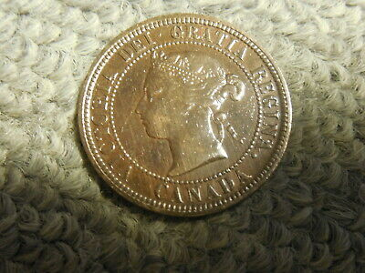 1876H Canadian Large Cent in VG to F condition. Nice! But you decide!!!!!!!