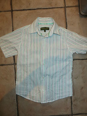 boys boy shirt top ted baker baker boy aged 5 years white green grey striped fab