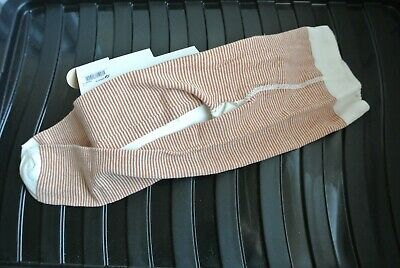 New Next baby girls/boys warm tights Ivory/rust stripes  size 12-18  months