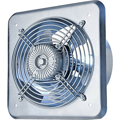 Acero Inoxidable Industrial Extractor 320mm Metal Comercial Ventilator