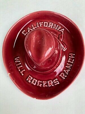 Will Rogers Ranch Ashtray. 2 small chips.