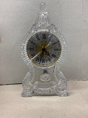 """SHANNON CRYSTAL Mantle Clock - 9.25"""" Silver/Gold Face-Shannon"""