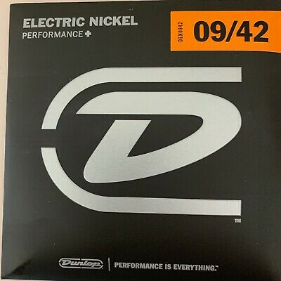 10 SETS  Dunlop Guitar Strings  Electric ** SUPER  DEAL SUPER PRICE 6 FREE PICKS