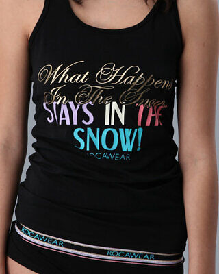 "ROCAWEAR..SLEEP SEXY ""WHAT HAPPENS IN THE SNOW"" tank set...SMALL...NWT...C9078"