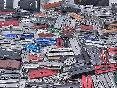 TSA Lot of 10 POUNDS Confiscated Multi-Tools Branded & Unbranded Grab Bag