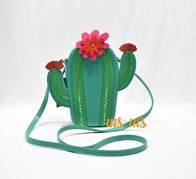 NWT Kate Spade New Horizons Cactus Crossbody Bag Leather Green Lizard NEW $248