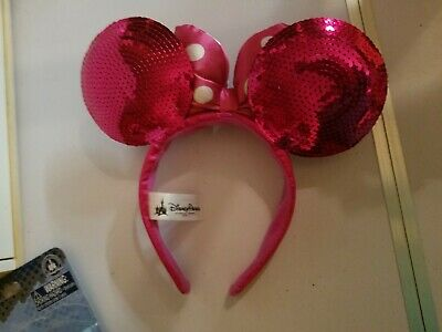 Disney Parks Pirate Redd Red Sequin Minnie Mouse Ears Headband