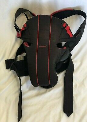 Baby Bjorn Infant Baby Front Carrier Black Red