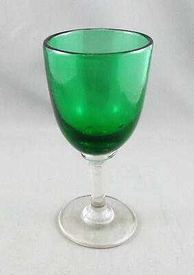 Antique Green & Clear c1890s Sherry Or Liqueur Glass.
