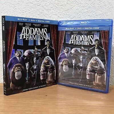 THE ADDAMS FAMILY (Blu-Ray + DVD + Digital, 2019) 2-DISC SET with SLIPCOVER!