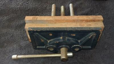 """Woodwork Vice,8"""",200mm.tools,workshop,house,hobby,craft,woodwork,timber,old."""