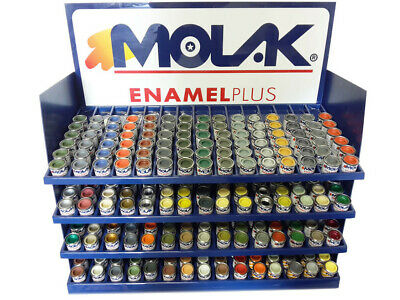 ESPOSITORE COLORI MOLAK ENAMEL 18 ml GLOSS SATIN METALLIC MATT HUMBROL REVELL