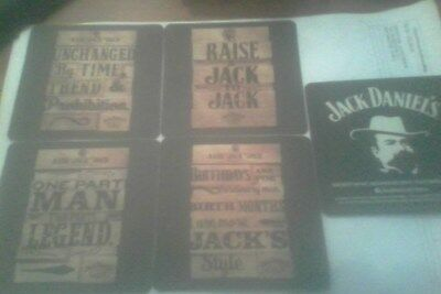 jack daniels wood look coasters (4 different all new never used)