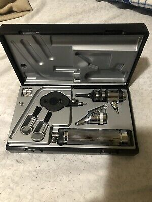 NEW Riester Otoscope Complete Medical Diagnostic Set in Black Case German Made!