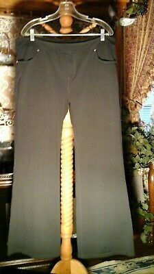 Athleta Flacon Bettona Classic Black Pants Women's Plus sz 2X Low Rise Flare leg