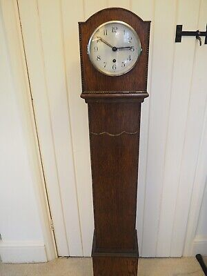 Antique Art Deco Grandmother Clock - perfect working order - with winding key