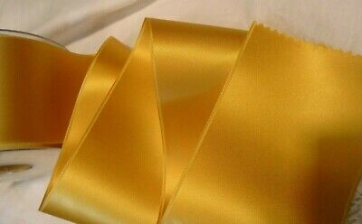 """ANTIQUE GOLD BTY 2/"""" WIDE SWISS DOUBLE FACE SATIN RIBBON"""