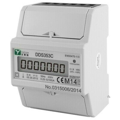 Dds353C 100A Single Phase Electric Read Meter Kwh Mid Approved