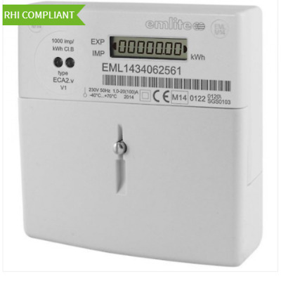 Emlite ECA2 100a Single Phase KWH Electric Meter with Extended Cover & FREE SEAL