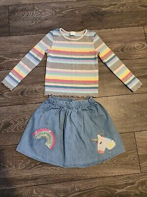 Girls Next Outfit Current Season Age 4-5 Worn Once Unicorn Rainbows