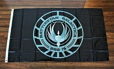 USA Seller Cylon Battlestar Galactica Pirate 3/' x 5/' Black Flag Banner Caprica