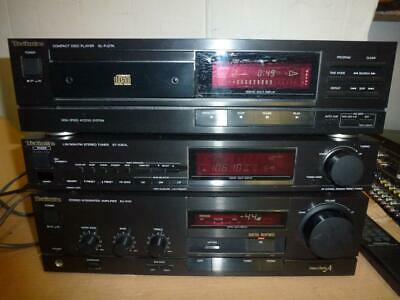 Technics X101 SEPARATE COMPONENT STEREO SYSTEM With Remote-Midi Size.