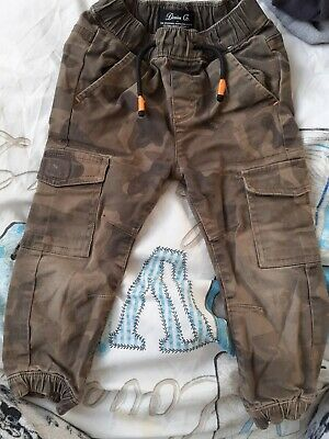 Boys Camoflage Cargo Trousers Age 2 To 3