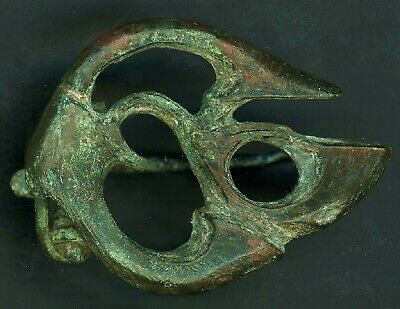 Impressive 1900 Yr Old CELTIC Brooch - TRUMPET Style - 100% Intact With FASTENER