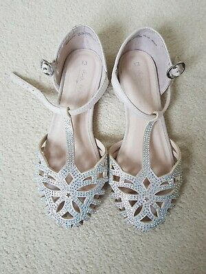 Next girls sparkly party shoes size 13 hardly worn