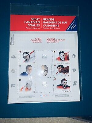 2015 Great Canadian Goalies NHL Hockey First Day Canada Post Stamps