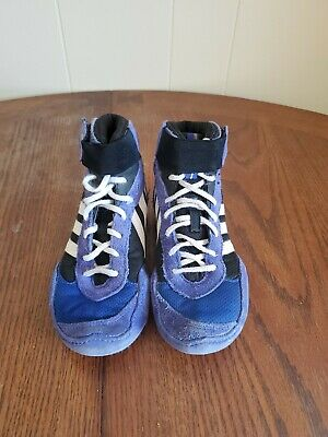ADIDAS BOYS SHOES WRESTLING SNEAKERS Size 1 BLUE